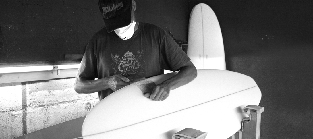 shape planche de surf par Johan Leconte