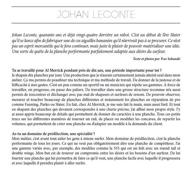 Interview Johan Leconte Surf Session