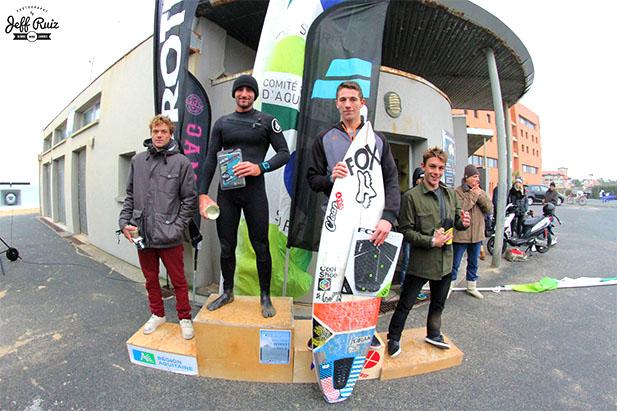 Jorgann Couzinet, podium, Capbreton